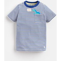 Blue Stripe Dino Peeker Pocket T-Shirt 1-6Yr  Size 1Yr