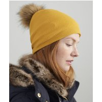 Gold Snowday Lightweight Pop-A-Pom Beanie Hat  Size One Size