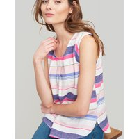 Blue Stripe Alyse Sleeveless Woven Top  Size 12