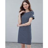 Navy Cream Stripe Riviera Jersey Dress  Size 8