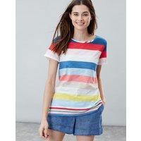 Blue Multi Stripe Nessa Stripe Lightweight Jersey T-Shirt  Size 10