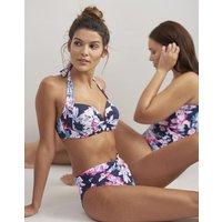 NAVY FLORAL Bonnie Bikini Top  Size 12