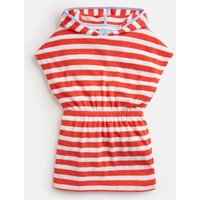 White Coral Stripe Beach Towelling Cover Up 1-12Yr  Size 5Yr