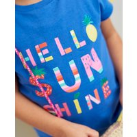Blue Hello Sunshine Pixie Jersey Screenprint T-Shirt 3-12Yr  Size 7Yr-8Yr