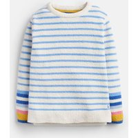 Lake Blue Cream Stripe Seaham Chenille Jumper 3-12 Years  Size 4Yr