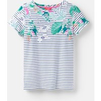 PALM STRIPE 204531 Printed Lightweight Jersey T-Shirt  Size 16