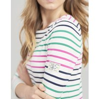 PINK GREEN BLUE STRIPE Harbour Jersey Top  Size 18