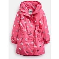Pink Unicorn Golightly Waterproof Packaway Coat 3-12 Years  Size 7Yr-8Yr