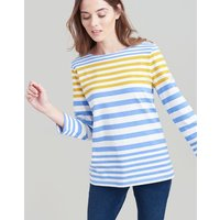 Blue Gold Stripe Harbour Jersey Top  Size 18