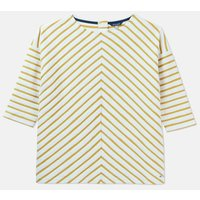 Antique Gold Stripe 207507 Zip Back Sweatshirt  Size 8