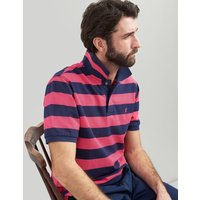Pink Navy Stripe Filbert Striped Classic Fit Polo  Size S