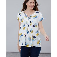 Lilypad Spot Lucia Short Sleeve Pop Over With Pintucks  Size 18