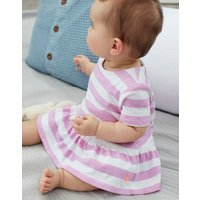 Mauve Stripe Romy Jersey Top And Woven Bloomer Set  Size 6M-9M