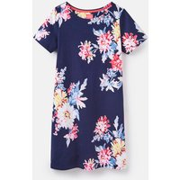 Navy Whitstable Floral 205237 Printed Short Sleeve Jersey Dress  Size 8