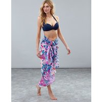 Pink Floral Sirena Sarong With Tassels  Size One Size