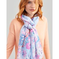 BLUE BORDER FLORAL Wensley Printed scarf  Size One Size