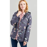 GREY FLORAL Coast print Waterproof Jacket  Size 8
