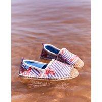 Blue Floral Stripe Ocean Flipadrille Flipadrilles  Size Adult 4