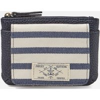 Blue Stripe Piper Striped Flap Coin Purse  Size One Size