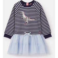 Navy Glitzy Dino Hettie Tutu Sweat Dress 1-6 Years  Size 1Yr