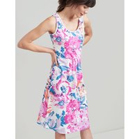 CREAM FLORAL Gabriella Sleeveless Jersey Dress  Size 14
