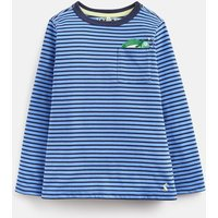 BLUE STRIPE CHAMELEON POCKET Winston PEEKER POCKET T-SHIRT 1-6yr  Size 1yr