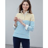 Gold Cream Blue Stripe Saunton Classic Sweatshirt  Size 8