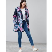 NAVY COTTAGE FLORAL Golightly Packaway Waterproof Jacket  Size 14