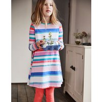 Pink Multi Stripe Loralie Jersey Swing Dress 3-12 Yr  Size 9Yr-10Yr