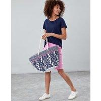 WHITE GEO Summer Printed Beach Bag  Size One Size