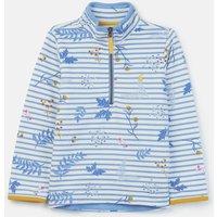 Blue Sprig Stripe Fairdale Half Zip Sweatshirt 3-12 Years  Size 3Yr