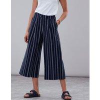 Navy White Stripe Alexi Print Culottes  Size 18