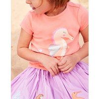 Orange Seahorse Pixie Jersey Screenprint T-Shirt 1-6Yr  Size 2Yr