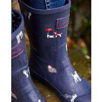NAVY DOGS Molly Mid Height Printed Wellies  Size Adult 7