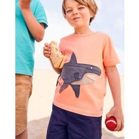 Orange Shark Chomper Applique T-Shirt 1-6 Yr  Size 1Yr
