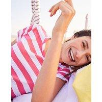 Pink White Stripe Nessa Stripe Lightweight Jersey T-Shirt  Size 10