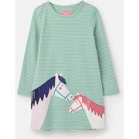 Green Double Horse Kaye Applique Dress 1-6 Years  Size 5Yr