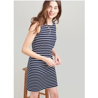 NAVY CREAM STRIPE Riva Sleeveless Jersey Dress  Size 16
