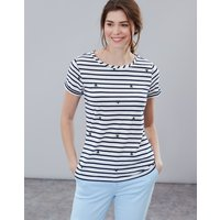 Cream Stripe Bee Nessa Print Lightweight Jersey T-Shirt  Size 18