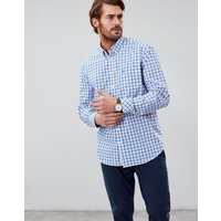 Blue White Check Harrison Easy Iron Long Sleeve Classic Fit Shirt  Size Xl