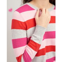 Pink Red Stripe Esha Crew Block Jumper  Size 18