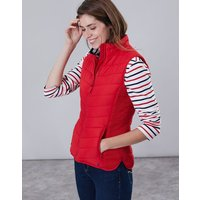 Red Fallow Padded Gilet With Funnel Neck  Size 16