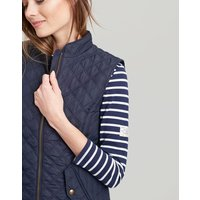 MARINE NAVY Minx Quilted Gilet  Size 14