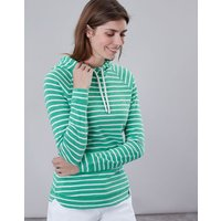 Green Cream Stripe Marlston Hooded Sweatshirt  Size 14