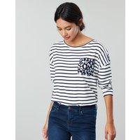 Marina Print Dropped Shoulder Jersey Top