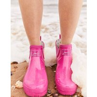 Pink Wellibob Gloss Short Height Wellies  Size Adult 5