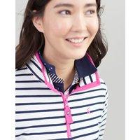 CREAM NAVY STRIPE Fairdale Sweatshirt With Zip Neck  Size 16