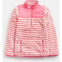 Creme Coral Stripe Elena Half Zip Fleece 3-12Yr  Size 11Yr-12Yr