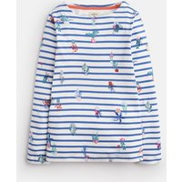 Cream Blue Plant Stripe Harbour Jersey Top 3-12 Yr  Size 11Yr-12Yr