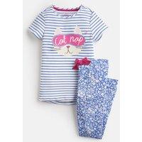 Blue Stripe Cat Nap Lark Jersey Pyjama Set 1-12Yr  Size 2Yr